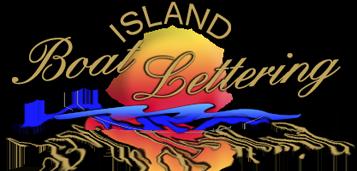 Island Boat Lettering