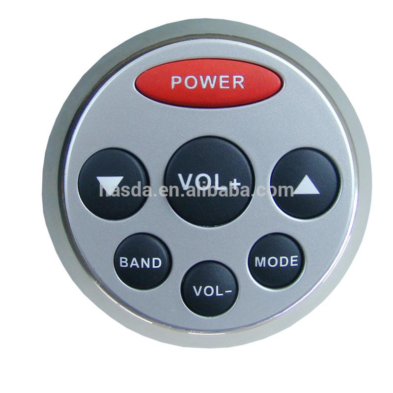 waterproof wired remote controller of mp3 bluetooth play