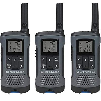 2-Way Radio, 3-Pack, 20Mi., Gray
