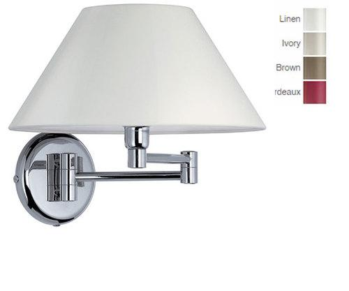 Iolanda Wall Light with Switch, Fabric Shade Made in Italy