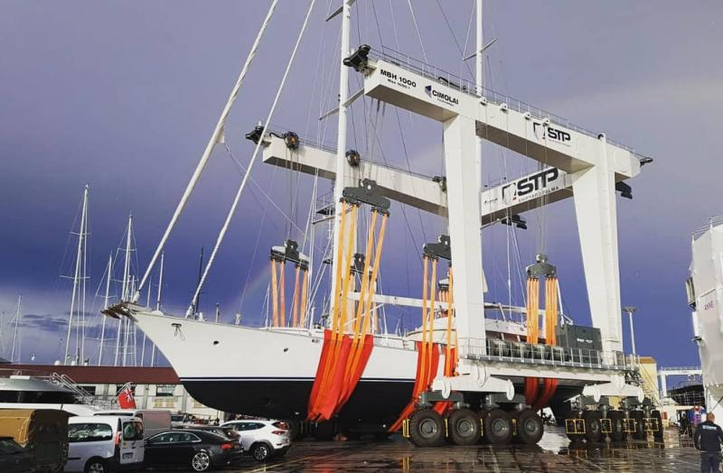 Mobile Boat Hoist MBH 1000 - Cimolai Technology