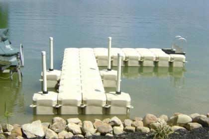 L-Shape Floating Boat Dock Walkway
