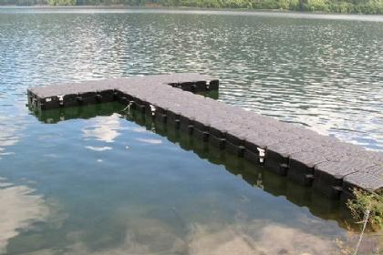 20 Foot T-Shaped Floating Dock & Walkway
