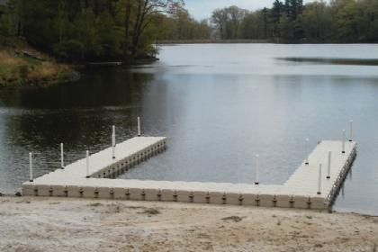 U-Shaped Floating Dock and Walkway