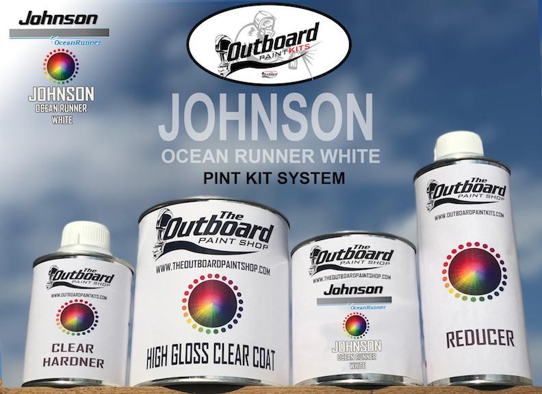 JOHNSON OCEAN RUNNER WHITE 1 Pint Refinishing Kit