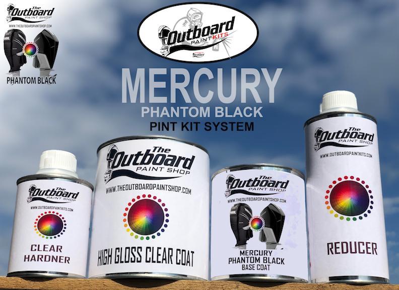 MERCURY VERADO PHANTOM BLACK 1 Pint Refinishing Kit. MERCURY PHANTOM BLACK All MODELS