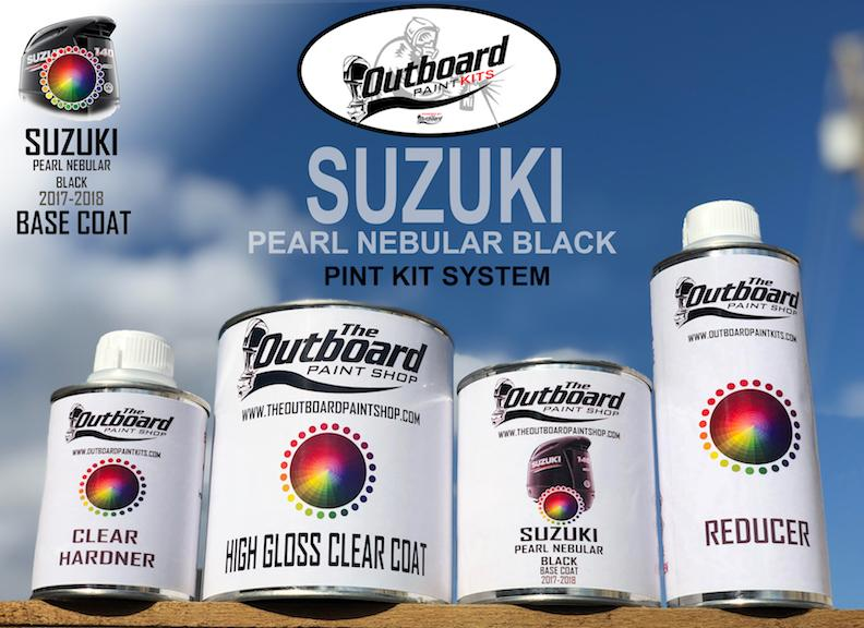 SUZUKI PEARL NEBULAR BLACK 2018 to Present Models 1 Pint Refinishing Kit
