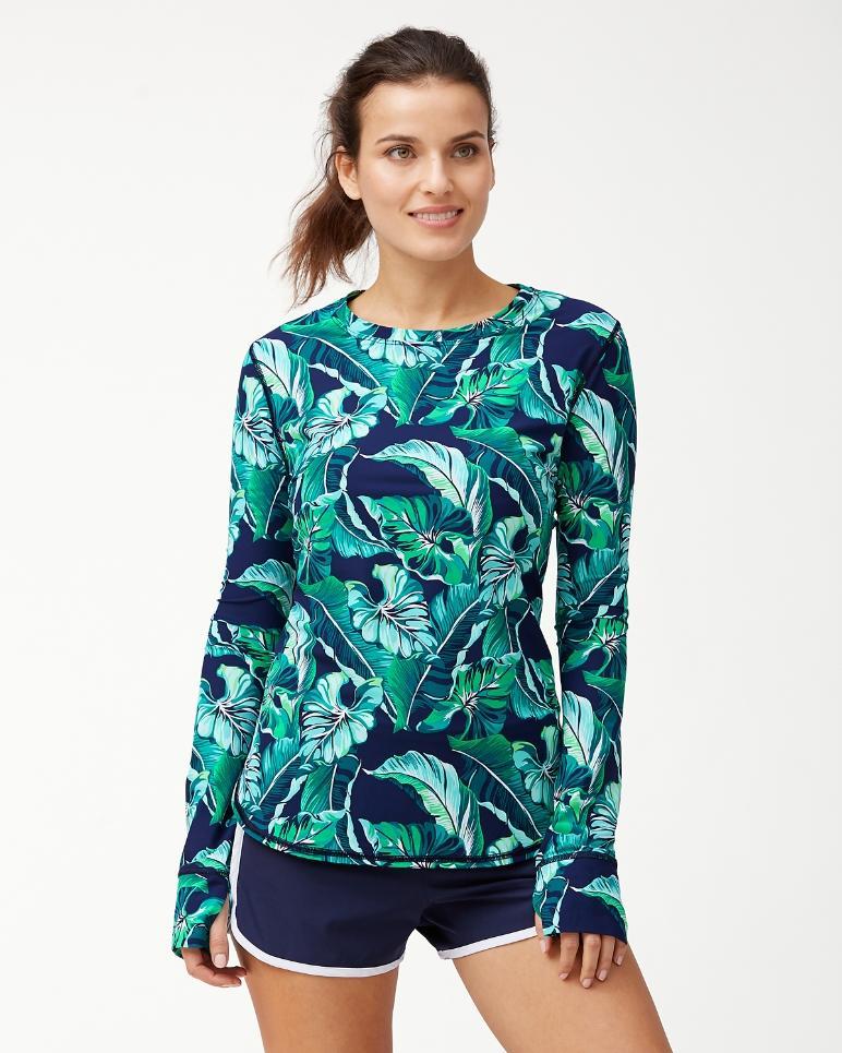 IslandActive® Breezy Palms Relaxed Long-Sleeve T-Shirt