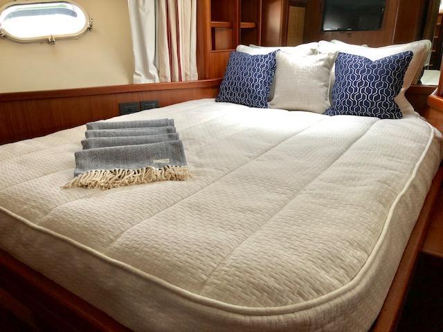 Custom Boat Bedding: Quilted Silken Coverlet