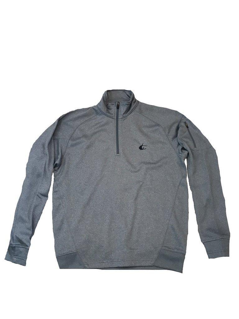 Contender Grey Heather Performance Mens 1/4 Zip Fleece Jacket