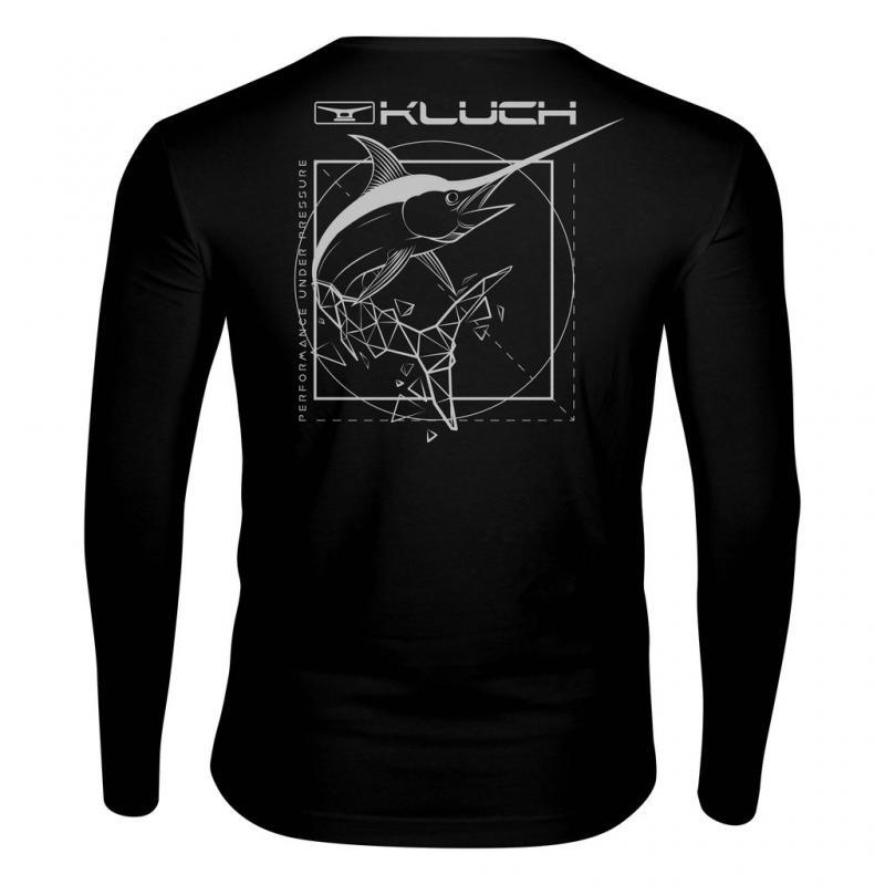 Kluch Geo Swordfish Mens Long Sleeve Performance T Shirt