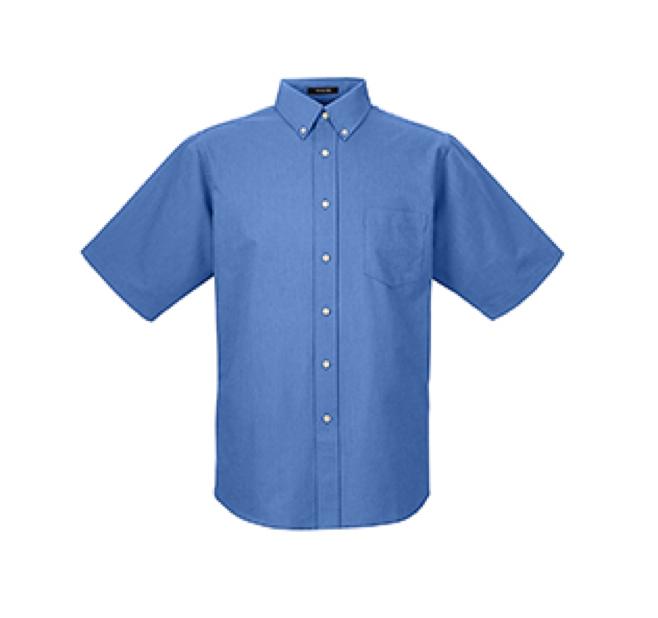 8972 UltraClub Men's Classic Wrinkle-Resistant Short-Sleeve Oxford