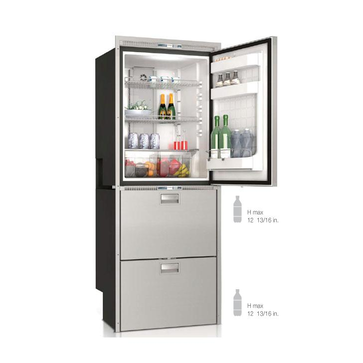 DW360IXN4-EFV upper refrigerator compartment and lower freezer/freezer compartment - Yachts and Motorhomes - Vitrifrigo