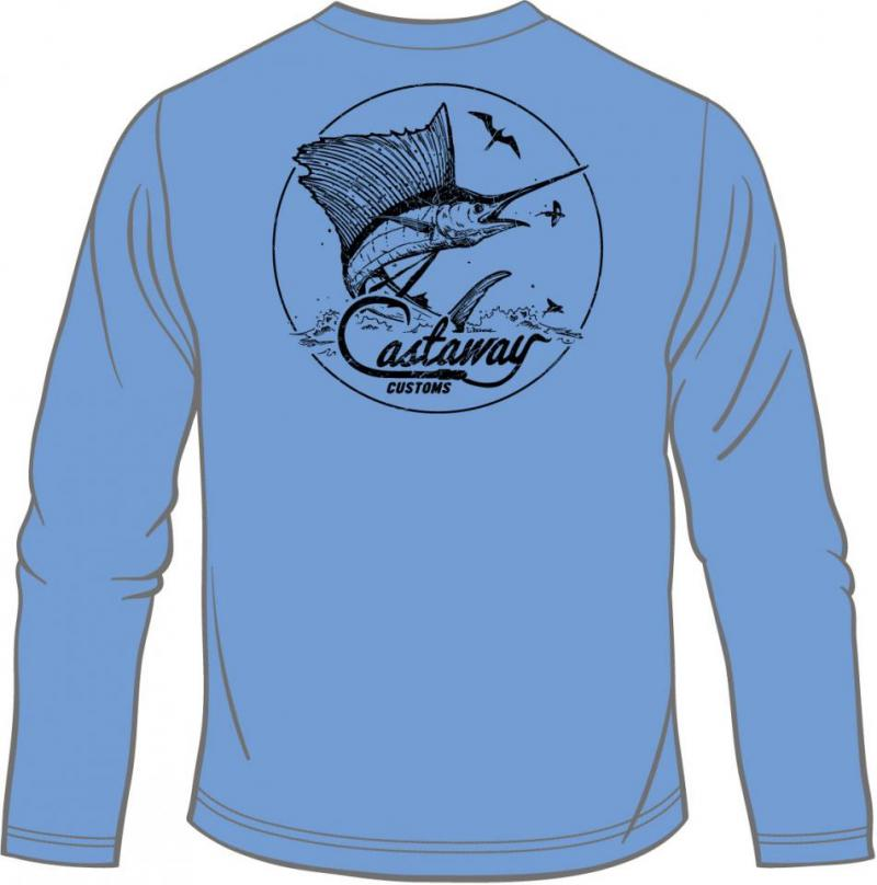 Men's Performance Long Sleeve Sailfish Tee