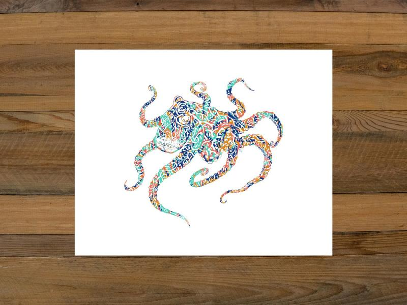 Octamang Art Print