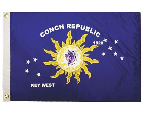 Conch Republic Flag 12x18