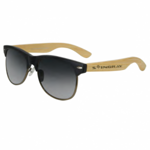 Stingray Organic Bamboo Matte Black Polarized Sunglasses