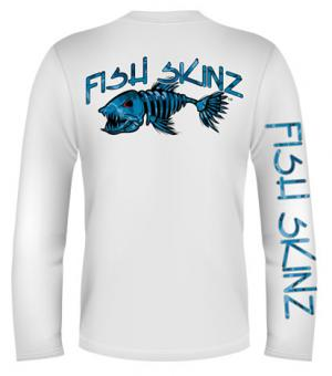 BLUE CAMO SKINZ LONG SLEEVE PERFORMANCE (LADIES)