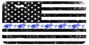HERO SERIES THIN BLUE LINE LICENSE PLATE