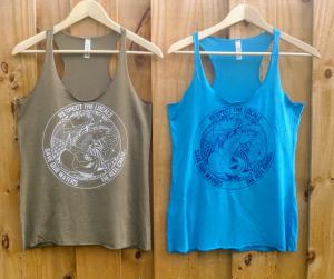 Respect the Locals - Save Our Waters Racerback Tank