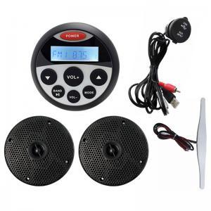 HASDA Marine waterproof bluetooth stereo receivers + 4'' speakers + antenna+USB IP66 saltwater, View waterproof bluetooth stereo shower speaker