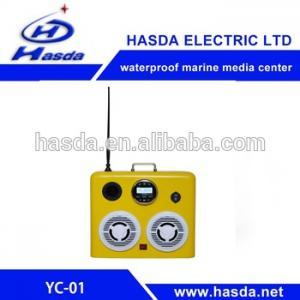 Waterproof marine IP66 speakers box radio