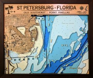 St. Petersburg -Pinellas Point – Large – 6 Layers – 43″ x 36″