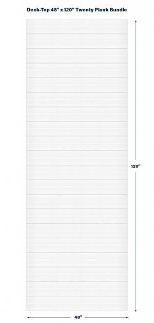 "Premium PVC Deck & Dock Plank Covering  48"" x 120"" Bundle Kit, Classic White"