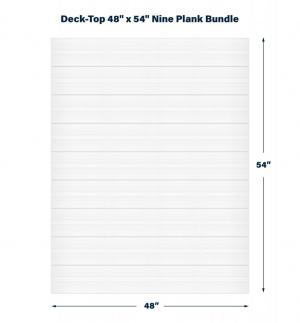 "Premium PVC Deck & Dock Plank Covering  48"" x 54"" Bundle Kit, Classic White"