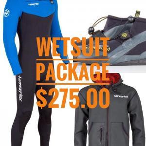 Wetsuit Package. Playa Hoodie, VYRL Wetsuit and Reef Boots