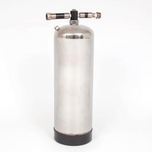 Accumulator Tank for Air Line Hookah Dive Systems - 2.5 Gallon SS