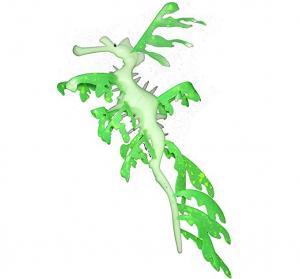 """Aquaficial Leafy Seadragon (4"""", Green)"""