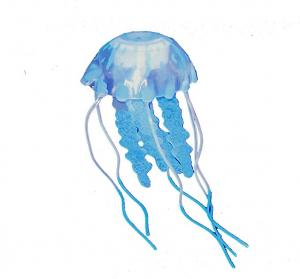 "Aquaficial Jellyfish (3.5"", Blue)"