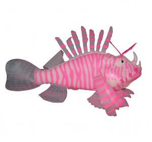 """Aquaficial Leafy Seadragon Lionfish (5"""" Lionfish, Pink)"""