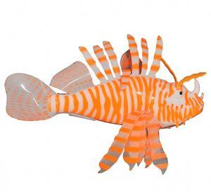 "Aquaficial Leafy Seadragon Lionfish (5"" Lionfish, Orange)"