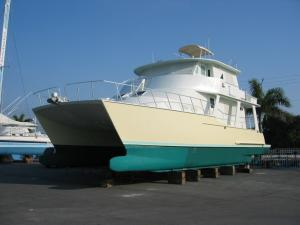 Custom Wooden Catamaran