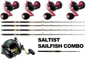 4 Daiwa Saltist LD35H Combos- Free TANACOM with WT Kite Rod