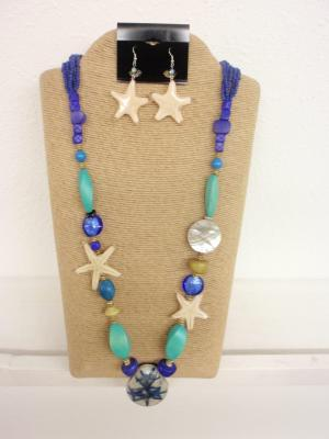 Nautical Stone Beaded Necklace Set