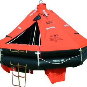 SEA-SAFE 6-25 PERSON SOLAS/MED, A-PACK, COMPLETE WITH CRADLE/HRU AND HARDWARE