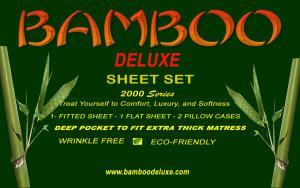 1 Bamboo Deluxe king Sheet Set