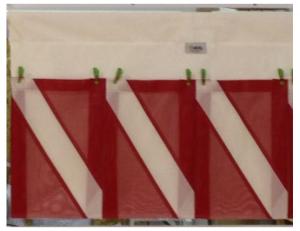Finholder and More 3 Pocket Dive Flag Facsimile - Model FHZ 0003 MDF