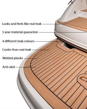 Flexiteek boat flooring