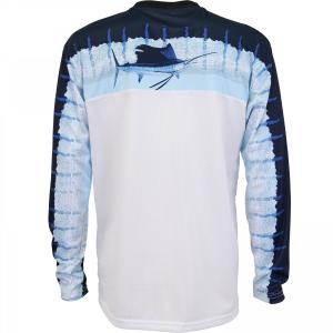 DEL MAR LONG SLEEVE PERFORMANCE SHIRT - SKY