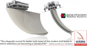 Side-Power Boat Stabilizer Vector Fins