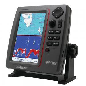 SI-TEX SVS-760CF Dual Frequency Chartplotter/Sounder w/ Navionics+ Flexible Coverage