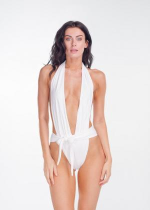 White Shelly One Piece