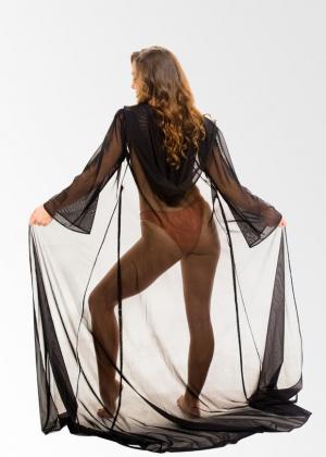 Black Kimono Duster