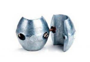 """X-1 Zimar Shaft Zinc Anode 3/4"""" diameter"""
