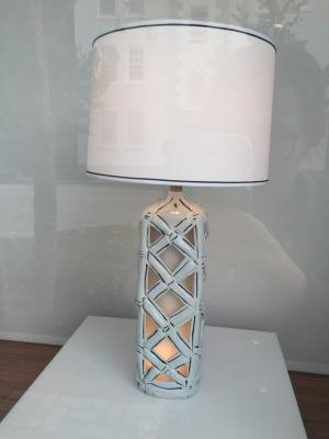Table Lamp Hand Painted Black & White Tall Table Lamp