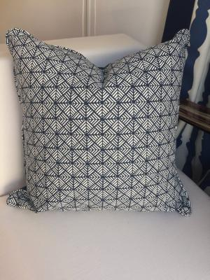 Decorative Pillows Navy & White Outdoor Pillow with Geometric